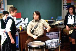 SCHOOL OF ROCK, Joey Gaydos Jr., Kevin Clark, Jack Black, Rebecca Brown, 2003, (c) Paramount/courtesy Everett Collection film still